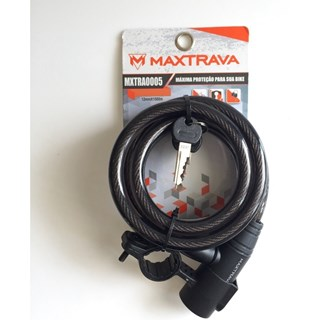 CADEADO MAXTRAVA CHAVE 1.5 MX ESPIRAL