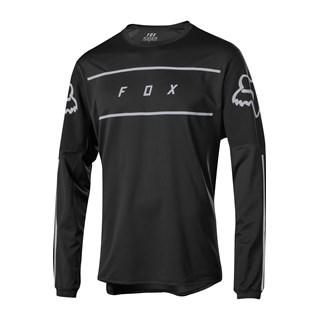 Camisa Fox Flexair LS Fine Line - P - Preto -  Manga Longa