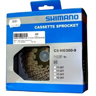 CASSETE SHIMANO 9V HG300-9 PRATA